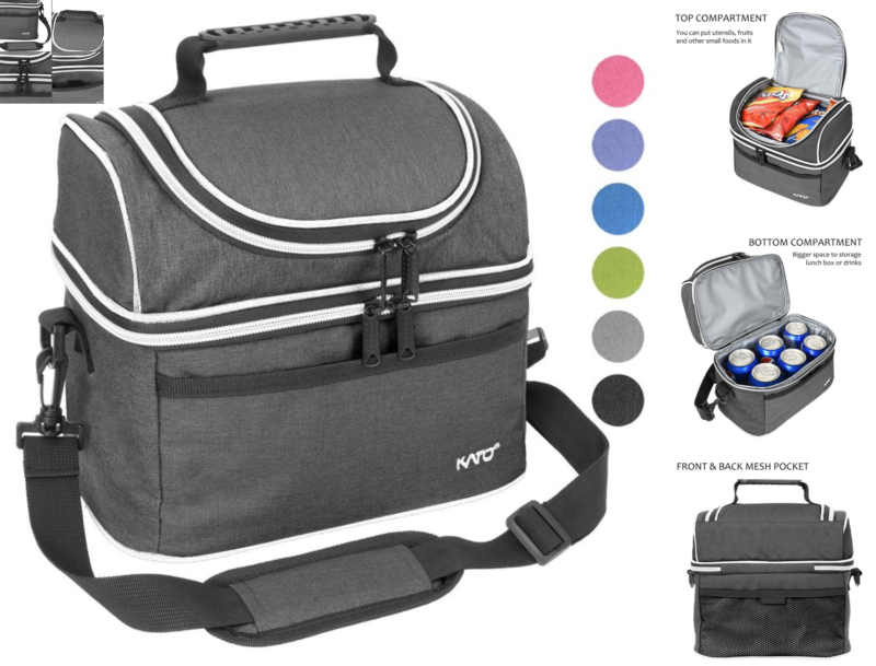 Adult Lunch Box Insulated Tote Bag Soft Cooler Adjustable St