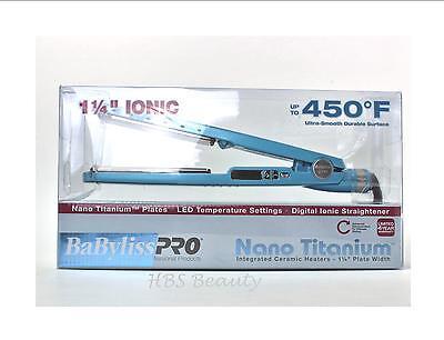 Babyliss Pro Nano Titanium Blue Flat Iron 1.25 Inch