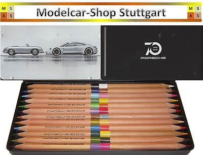 70 Jahre Porsche Sports Car Pen Set with 12 Colored Pencils Factory New (Map Color Pencils)