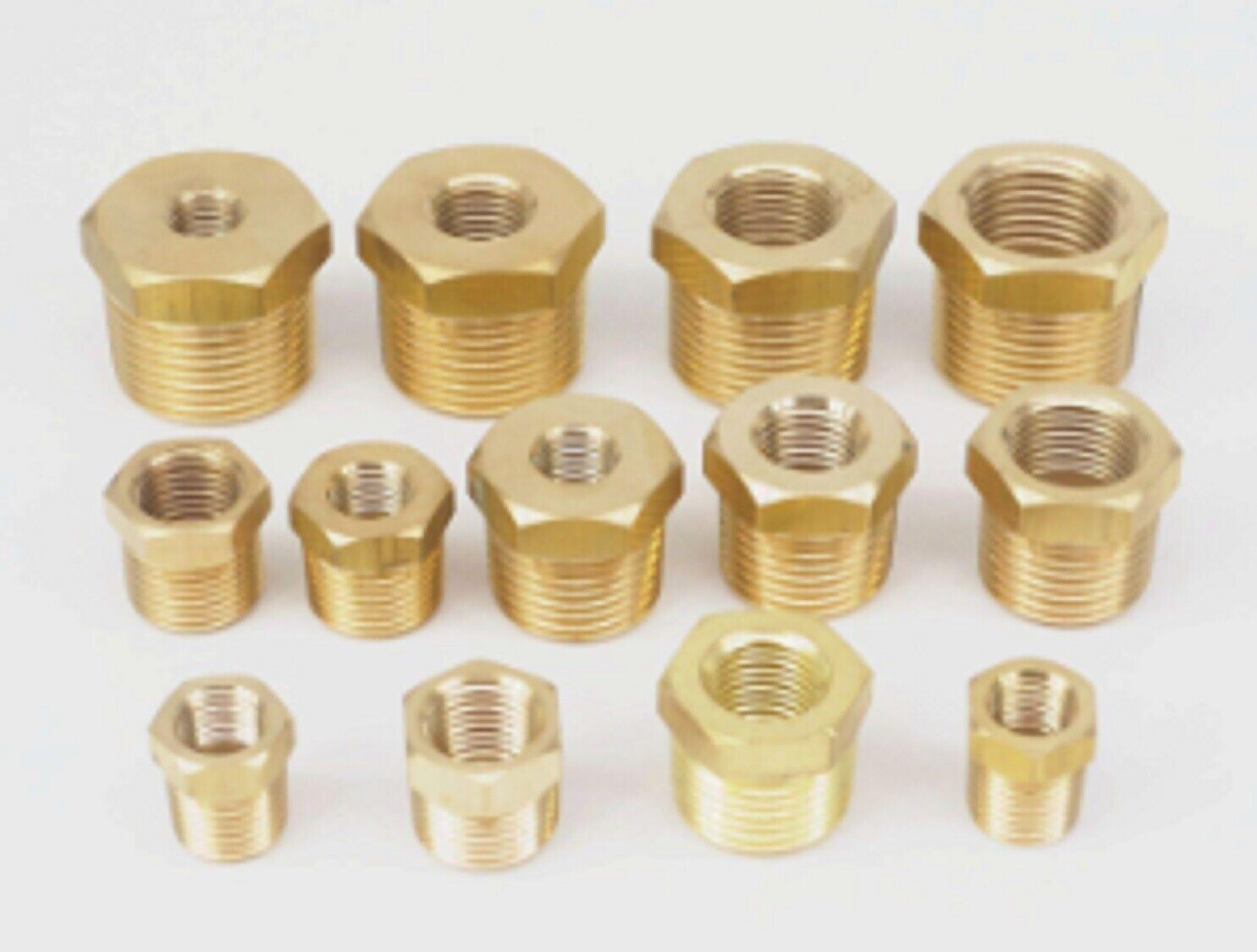 "Pipe Fitting 1//8/"" NPT Female to Metric M8 M8X1 Male Brass Adapter Gauge #B0"