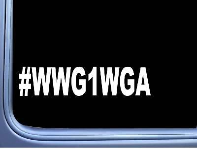 WWG1WGA Qanon M391 8 inch wide Sticker Decal Q Anon Patriot