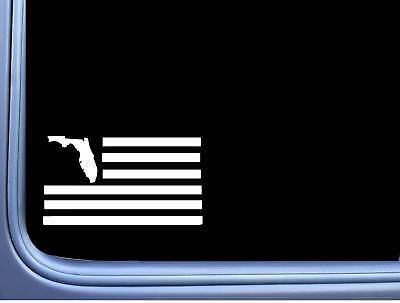 Florida American Flag M195 8 inch Sticker state spring break native beach