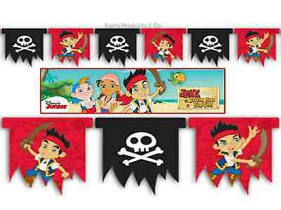 Jake & The Never land Pirates 1.9m Flag Banner Decorations Birthday Party ()