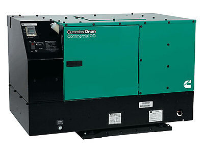 New Cummins 7500 Watt Commercial Qd Diesel Generator 7.5hdkat41934 120 Volts