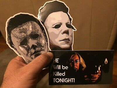 Halloween Movie Memorabilia (Halloween Michael Myers Stickers - 3 to Choose)