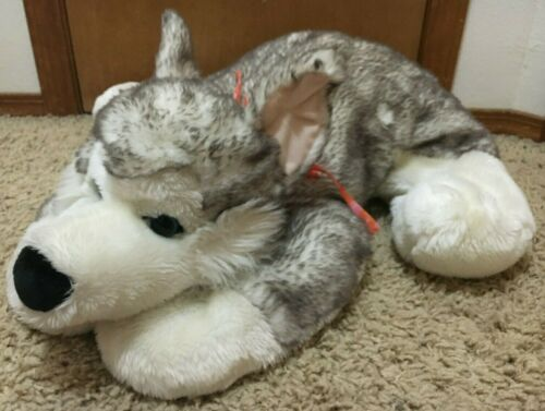 "Large Kids Of America Corp Siberian Husky 32"" Plush Toy Stuffed Animal Dog"