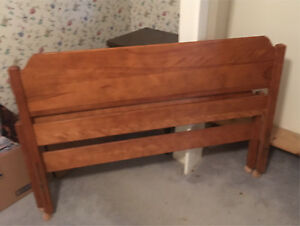 Double Solid Maple Headboard and Footboard