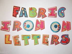 FABRIC-Iron-On-LETTERS-Embroidered-Applique-Motif-on-Colourful-Felt-Alphabet