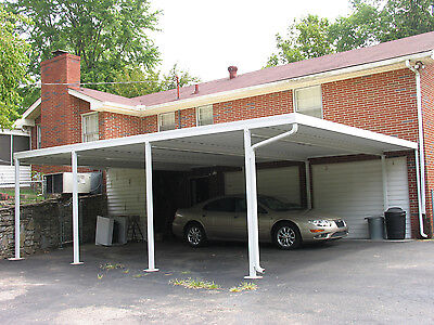 24x24 Patriot Panel Free Standing 24 Gauge Steel Carport Or Patio Cover Kit