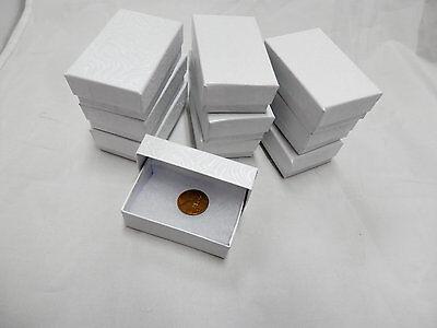 Wholesale 25 Small White Swirl Cotton Fill Jewelry Gift Boxes 1 7/8