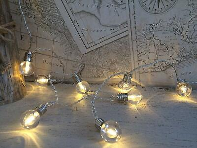 Halloween Party Basement (String LED Fairy Lights 16 Bulb Garland 2M Mains Operated Retro Chic)