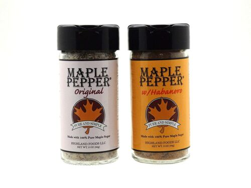 Habanero Maple Pepper and Original Maple Pepper - Made from Pure VT Maple Syrup