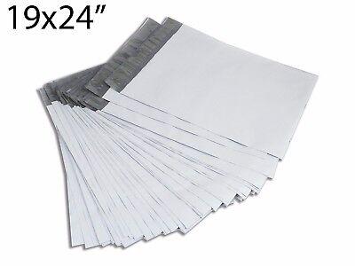 25pcs 19x24 Gray Poly Shipping Envelope Sealing Mailers Bag 2.0 Mil