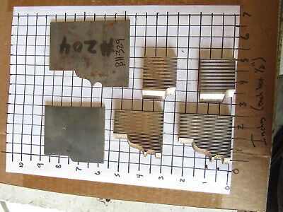 4 Moulder Blades Bits Knives 516 Corrugated Back Shaper Router Profile
