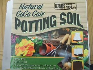 Natural Coco Coir Potting Soil Expands To 10L Indoor & Outdoor Seed Seedlings