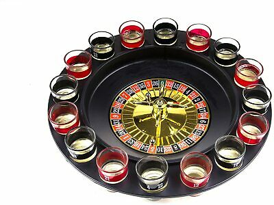 Drinking Shot Glass Roulette Game-Casino Style-16 Shot Glasses Included