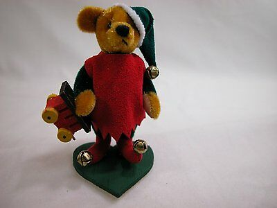 "World of Miniature Bears 2.75"" Velvet Bear Elwin #866 Collectible Bear"