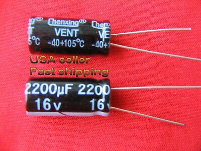 4 Pcs - 2200uf 16v Electrolytic Capacitors 105c Free Shipping