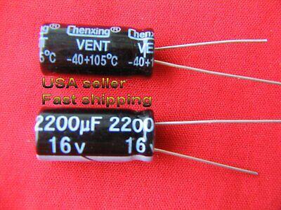4 Pcs - 2200uf 16v Electrolytic Capacitors 105c Free Shipping