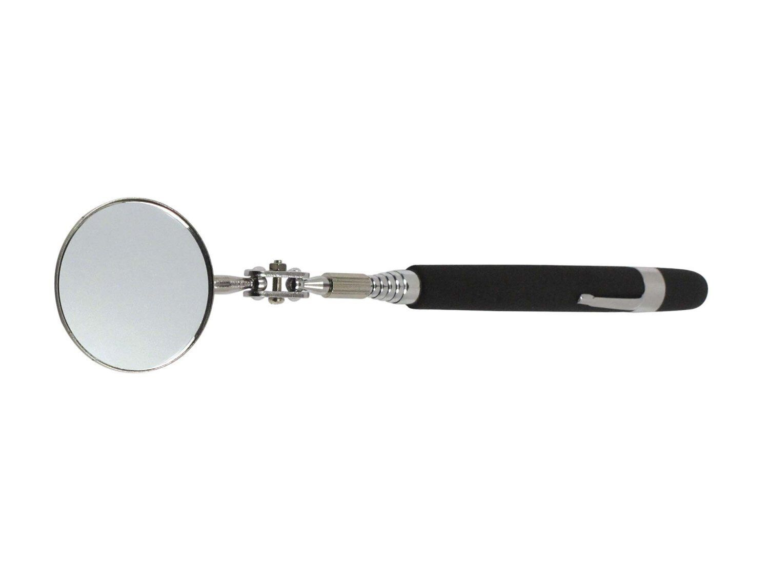 Adjule 2 Inspection Mirror For Viewing Hard To See Work Areas The Cushion Grip Handle A Comfortable Hold And Extends Up 36 Long