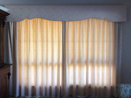 Curtains for two large windows with separate lining | Curtains ...