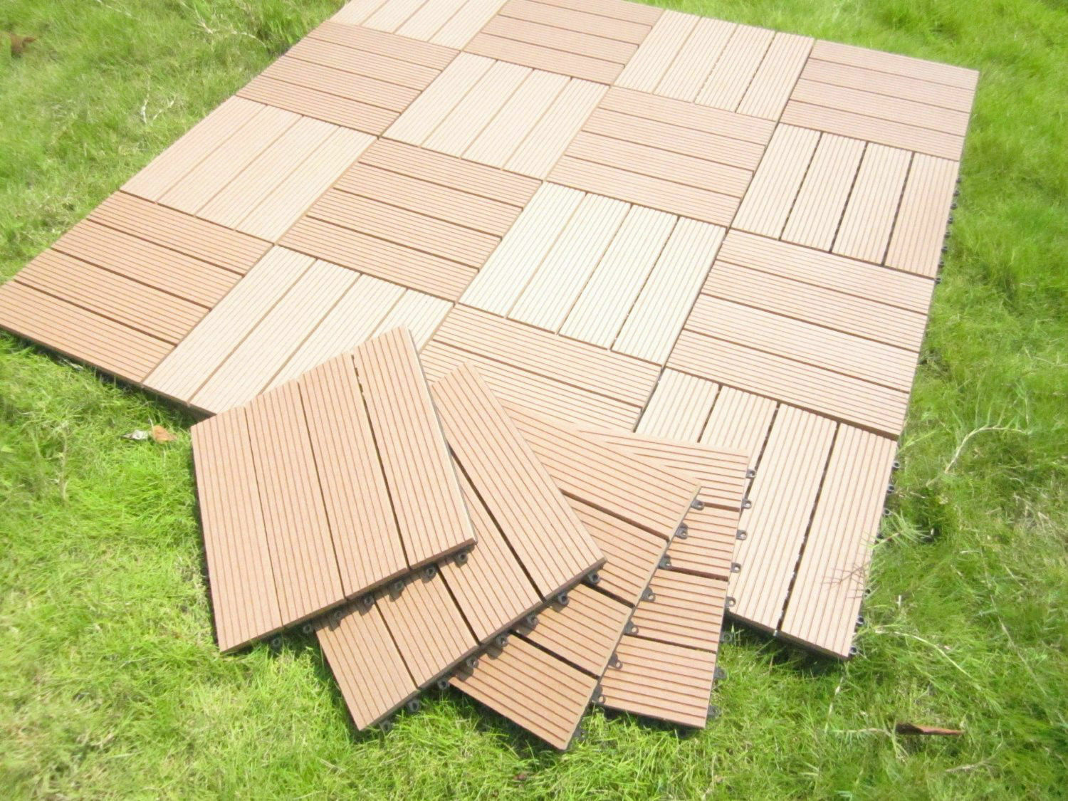 How to install interlocking deck tiles ebay for Garden decking squares