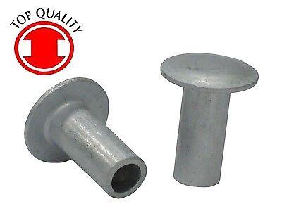 3//16 X 5//8 X 3//8 Truss HD SEMI-Tubular Aluminum Rivets; Measurements are Diameter X Length X Head Diameter ; 100 PCS Box
