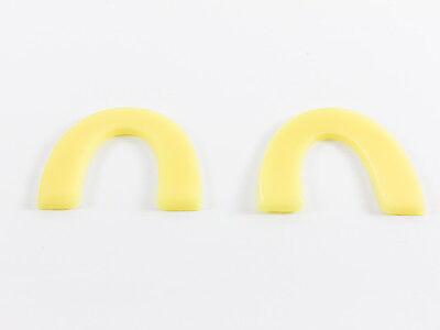 Dental Lab Preformed Casting Bite Block Wax Occlusal Wafers Soft Yellow 56box