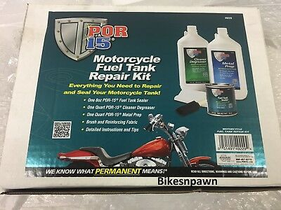 POR-15 Combo Kit Gas Tank Fuel Liner Sealer Motorcycle Rust Coating Prep Seal
