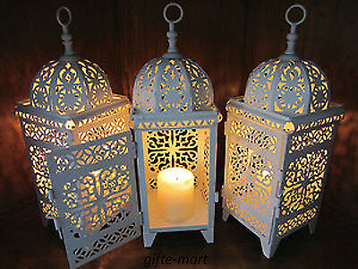 14 lot white Moroccan scrollwork Lantern Candle holder wedding table centerpiece