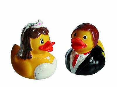 Bride and Groom Rubber Ducks-Set of 2