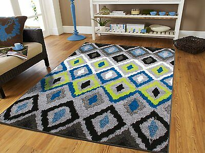Modern Area Rugs 8x10 Blue Rug 5x7 Hallway Runner Rugs 2x8