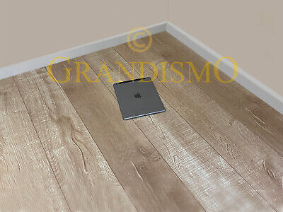 12mm Light Oak Laminate Wood Flooring - Click System - V Groove - High (Quality Laminate Flooring)