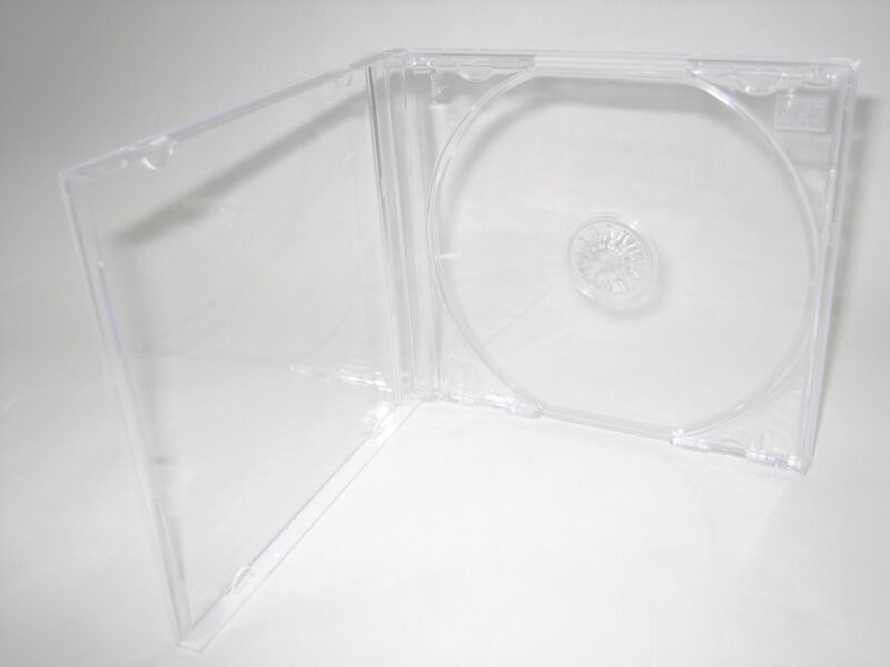 10 Standard 10.4mm Single CD Jewel Cases w Clear Tray KC04PK, Made in USA