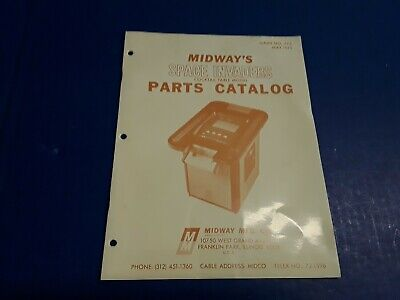 Space Invaders Cocktail Table Model Parts Catalog by Midway