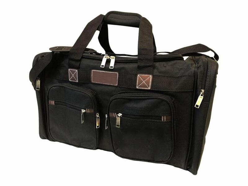 "22"" Carry On Plane Duffel Bag w/Shoulder Strap (Black)"