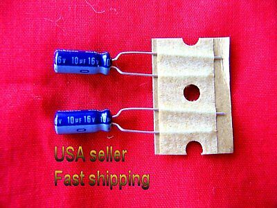 4 pc   -   10uf  16v   electrolytic capacitors FREE SHIPPING