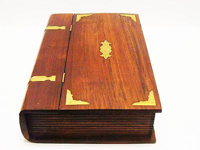 Fantastic large wooden book box with lock