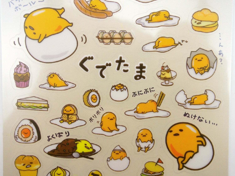 Gudetama stickers! Kawaii Japanese lazy egg cute planner sti