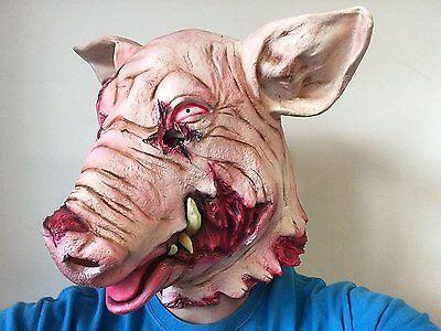 Blutige Getrennt Schwein Kopfmaske Horror Tier Halloween - Schwein Kopf Kostüm Maske