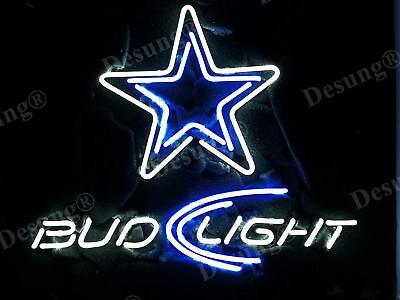 Used, New Bud Light Dallas Cowboys Beer Real Glass