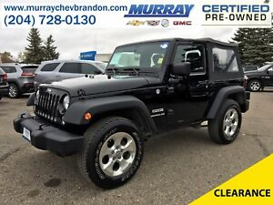 2014 Jeep Wrangler Sport 4WD *Soft Top* *Low Mileage*