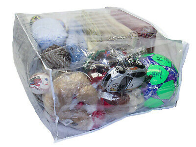 Clear Vinyl Zippered Comforter Bedding Toy Art Storage Bags 24x20x11 Inch 5-Pack Clear Vinyl Zippered Bag