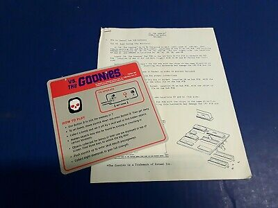 Nintendo VS. The Goonies Instruction Decal & Operation Manual