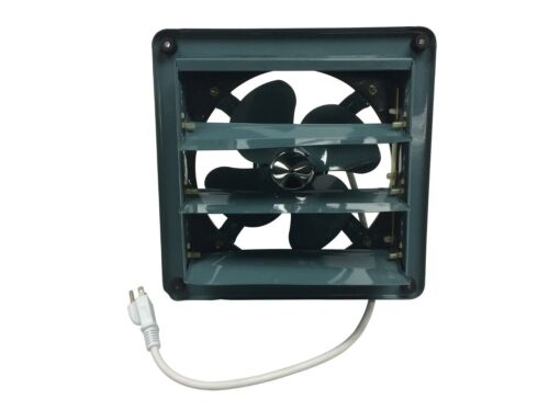 """Metal Shutter Exhaust Fan Garage Shed Barn Ventilation 8""""- 20"""" 6 Sizes Available"""
