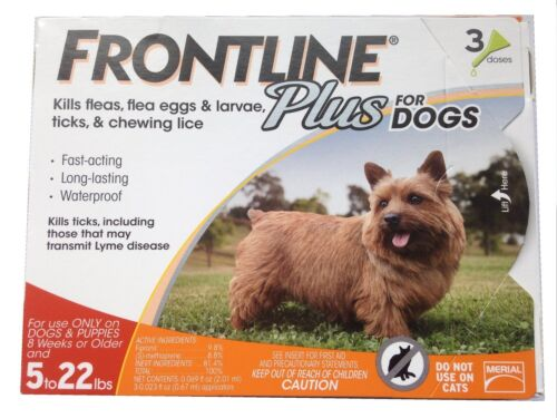 Frontline Plus for Small Dogs 5-22 lbs. 3 Doses - EPA Approved