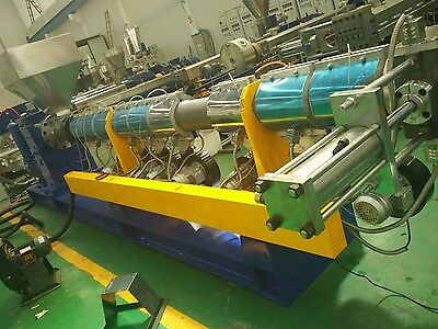 Single Screw extrusion line for Soft HDPE crushed material (Water-cooling strand