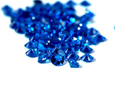 25 PIECES OF 1.5mm ROUND-FACET DEEP-BLUE LAB SPINEL GEMSTONES