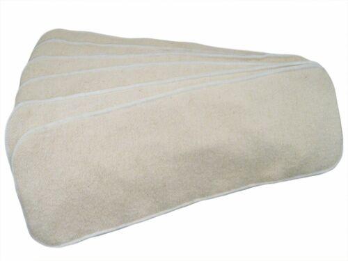 6 Pack Hemp Cotton Inserts for Cloth Diaper 3 Layers of Hemp Cotton 14 x 5