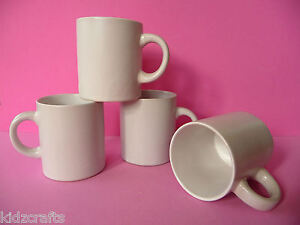 white ceramic mugs for children to paint and decorate 7cm. Black Bedroom Furniture Sets. Home Design Ideas